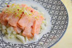 Entrée de Noël : Ceviche de saumon sauce vodka | Lorni te gave.. de GRAS.