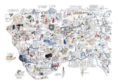 Click to Enlarge - Yorkshire Map by Tim Bulmer