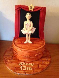 Ballerina on stage cake