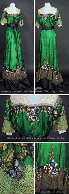Ball gown, circa 1905-1907. Via Montana Historical Society Pinterest board   JV
