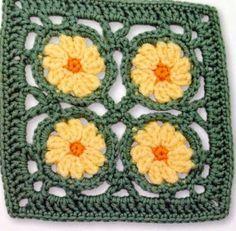 Tecendo Artes em Crochet: Squares Lindos com Gráficos!