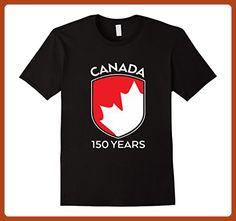Mens Canada 150th Birthday T-shirts Medium Black - Birthday shirts (*Partner-Link)