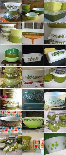 Green Pyrex-I need the green polka dot bowl!