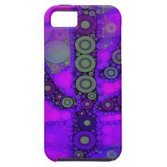 Funky Blue Purple Saguaro Cactus Mosaic iPhone 5 Cover