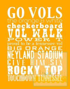 Tennessee Vols UT Sports Team Spirit Subway Art Print Poster . Tennessee Football, University Of Tennessee, Vol Nation, Neyland Stadium, Tennessee Girls, Orange Country, Go Vols, Tennessee Volunteers, Subway Art