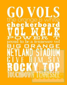 Go Tennessee Vols