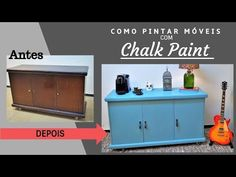 Como Pintar Móveis Sem Lixar - Chalk Paint - YouTube Chalk Paint, Decoration, Painted Furniture, Recycling, Diy Projects, Organization, Cabinet, Storage, 36