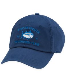 A twist on our Original Skipjack Hat. Made of 100% garment washed cotton twill, the front of the hat features an embroidered Southern Tide emblem and a signature haint blue under bill. An adjustable strap in the back allows for comfortable wear. 100% Cotton Twill | One size fits all