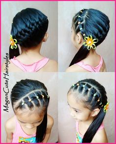 French braid hairstyles for black women Baby Girl Hairstyles, Princess Hairstyles, Cute Hairstyles For Short Hair, Up Hairstyles, Childrens Hairstyles, Toddler Hairstyles, Teenage Hairstyles, Peinado Updo, Girl Hair Dos