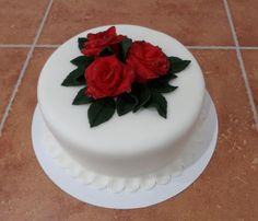 dort - rudé růže / cake - red roses