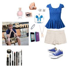 Meeting Sam Golbach by walkingdead12 on Polyvore featuring polyvore, fashion, style, Alice + Olivia, Converse, Blue Nile, Belkin, Oscar de la Renta, Lord & Berry and PhunkeeTree