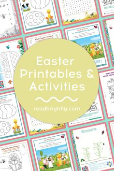 Hop into spring and celebrate Easter with these printables and activities sure to keep little ones entertained. Easter Coloring Pages, Coloring For Kids, Different Types Of Seeds, Washable Paint, Parts Of A Flower, Easter Colors, Very Hungry Caterpillar, Pink Tulips, Spring Has Sprung