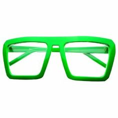 Amazon.com: Retro Square Clear Lens Nerd Party Glasses Frames Red Blue Green Yellow Pink (Green): Sports & Outdoors