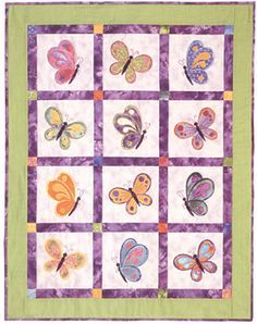 Free Butterfly Quilt Pattern at TrishsCrafts.com
