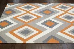 Nuloom - Nuloom Hand Hooked Marisol Orange Area Rug #104435. 5x8 is $158.