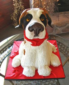 St. Bernard Cake - such a great idea!