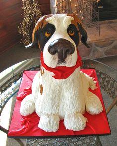St. Bernard Cake - such a great idea!