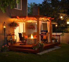 Patio Pergola---PERFECT fit for our backyard!!