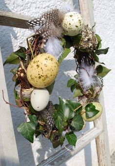 Spring wreath (not suggesting you steal eggs).