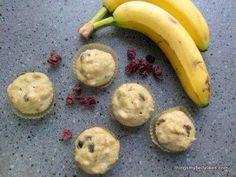 Banana & Cranberry Breakfast Muffins