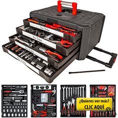 TecTake Maletín con herramientas 200pc piezas... #herramientas