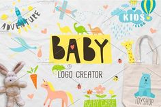 BABY logo creator by miraclesshop on @creativemarket