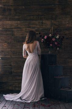 Vintage inspirado novia espalda abierta por CathyTelle en Etsy