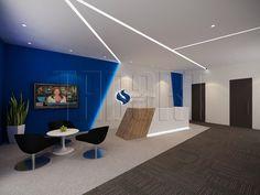 Reception Area for SP Services. Office Interior design by Traart Pte Ltd  #officeinteriordesign #interiordesign #reception
