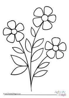 Free Printable Flower Coloring Pages For Kids - Coloring Page Ideas Beach Coloring Pages, Rose Coloring Pages, Printable Flower Coloring Pages, Garden Coloring Pages, Easter Egg Coloring Pages, Coloring Book App, Fish Coloring Page, Butterfly Coloring Page, Coloring Pages For Boys
