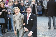 Miss Honoria Glossop:  Princess Stephanie and Hereditary Prince Guillaume of Luxembourg attend the wedding of his cousin, Archduke Christoph
