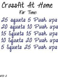 Cross Fit at Home Workout