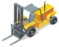 Isometric Forklift Royalty Free Stock Vector Art Illustration