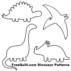 Dinosaur Patterns - Free Quilt Patterns for 4 Dinosaurs