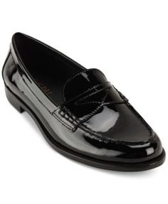 Classic tailoring and glossy, patent leather completes your look with polished style in these Barrett loafers from Lauren Ralph Lauren. | Patent leather upper; manmade sole | Imported | Round closed-t