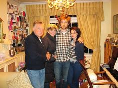 With Rob's parents in London - Christmas 2009?
