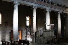 Ionic capitals along the nave of San Lorenzo fuori le mura, Rome