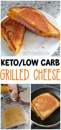 Keto/Low carb grilled cheese using a 90 second bread recipe! Perfect for people on the keto diet. Lunch or dinner idea that kids love too.
