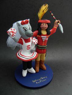 Custom made to order Seminole and Ms Wuf college mascot wedding cake toppers. $235 www.magicmud.com 1 800 231 9814 magicmud@magicmud... blog.magicmud.com twitter.com/... $235 #mascot #collegemascot #hokie #ms.wuf #gators #virginiatech #football mascot #wedding #toppers #custom #Groom #bride #weddingcaketoppers #caketoppers www.facebook.com/... www.tumblr.com/... instagram.com/... magicmud.com/Wedding photos.htm