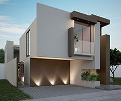 Casas Perdura - Inversión House Outside Design, House Front Design, Modern House Design, Modern Exterior, Exterior Design, Beautiful Home Designs, House Paint Exterior, Facade House, Modern House Plans