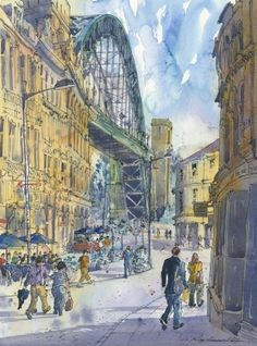 Tyne Bridge by Roy Francis Kirton  Signed limited edition mounted print