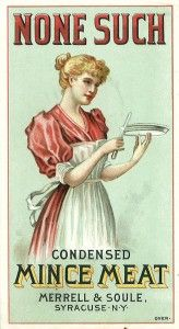 None Such Condensed Mince Meat trade card (front)