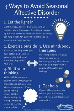 5 Ways to Preempt Seasonal Affective Disorder Now. As the days get shorter and the weather colder, m How To Handle Depression, Dealing With Depression, Postpartum Depression, Signs Of Anxiety, Stress And Anxiety, Anxiety Facts, Anxiety Relief, Mindfulness