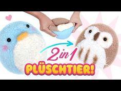 DIY 2 in 1 PLÜSCHTIER!!! Stofftier aus Socken! Einfach Spielzeug selber machen Anleitung Deutsch - YouTube