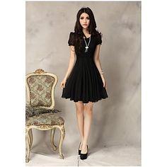 Moda Lace Chiffon Vestido das mulheres – BRL R$ 48,06