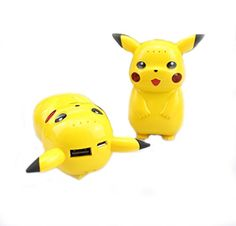 Pokemon GO Pikachu Portable Cell Phone Charger, USB Power Bank for Mobile External Battery for iPhone, Samsung, LG, Nexus, HTC, Charger Included LED Lights High Capacity Power 10,000 mAh – Pokemon Power Bank