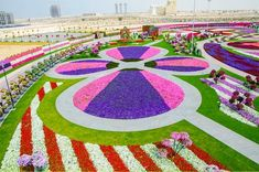 "Dubai Miracle Garden, Dubai Now the ""world's biggest natural flower garden,"" this sq. foot garden contains over 45 million flowers, and is maintained through drip irrigation and the recycling of waste water. (via)"