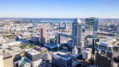 Tampa, Florida, Downtown aerial view. Tampa Florida, Aerial View, San Francisco Skyline, New York Skyline, Pictures, Travel, Photos, Viajes, Destinations
