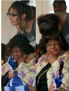 Paris and her grandma Mrs Jackson❤