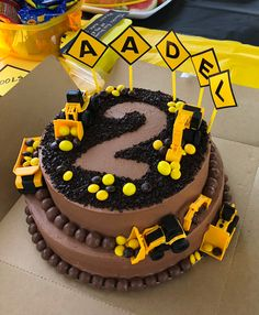 Baked Construction Cake At My Son Bday 2nd Birthday Parties Cakes 1st