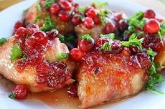 Chicken with cranberries  # favorite recipes cooking food